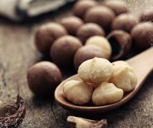 Dagelijks vers gebrande Macadamia's