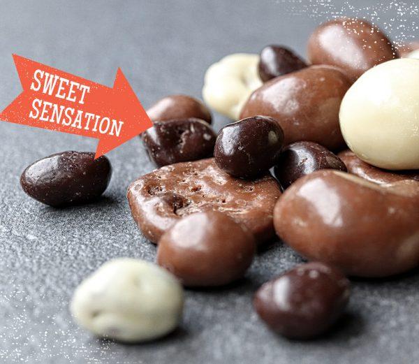 Chocolade notenmix en chocolade rozijnenmix